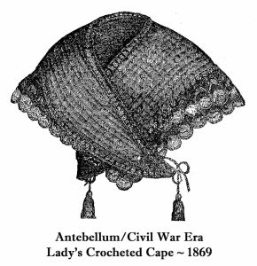 Lady's Crocheted Cape 1869